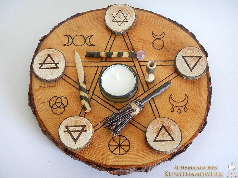 Tisch altar wicca auf baumscheibe - Tisch baumscheibe ...