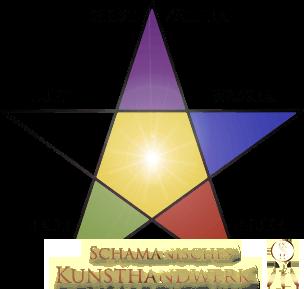Pentagramm mit Elementen