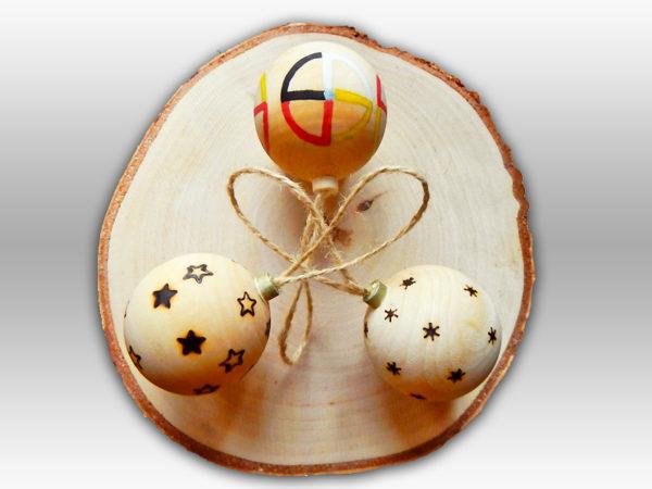 Weihnachtskugel Kollektion - gebrannt (Abb. ähnlich & ohne Dekoration)