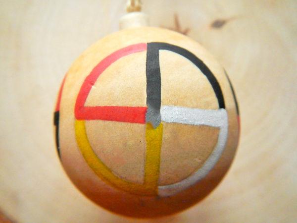 """Weihnachtskugel """"Medizinrad"""" - Modell 4 (Abb. ähnlich)"""