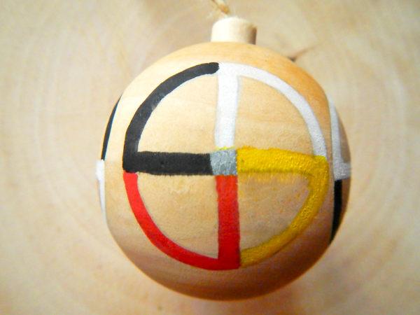 """Weihnachtskugel """"Medizinrad"""" - Modell 1 (Abb. ähnlich)"""