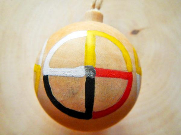 """Weihnachtskugel """"Medizinrad"""" - Modell 2 (Abb. ähnlich)"""