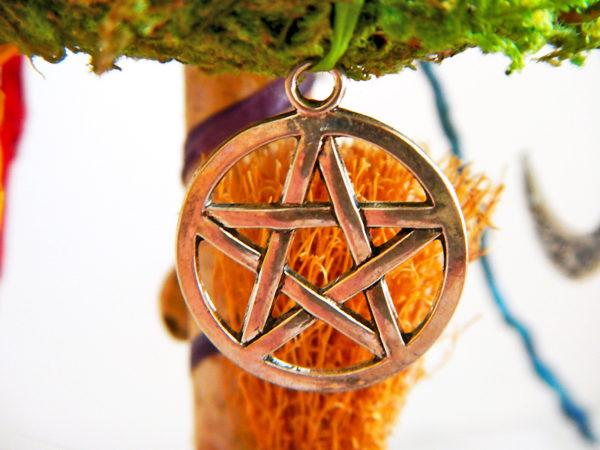 """Beltane Baum """"Wicca"""" - Pentagramm Motivanhänger (Abb. ähnlich)"""