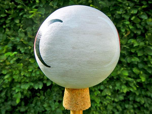 """Gartenkugel """"Dreifacher Mond"""" - Schwarz zu Weiß (Abb. ähnlich)"""