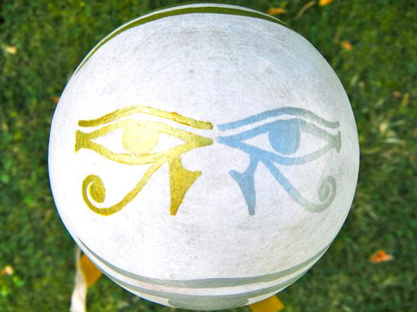 """Gartenkugel """"Kosmische Augen des Horus"""" (Abb. ähnlich)"""